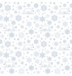 pattern snow polarbear white vector image