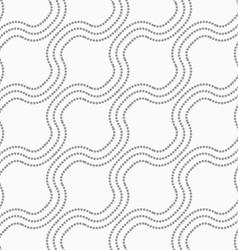 Dotted diagonal bulging waves vector image vector image