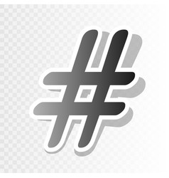 hashtag sign new year vector image vector image
