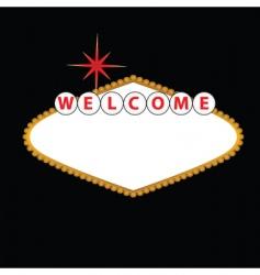 Las Vegas sign vector image vector image
