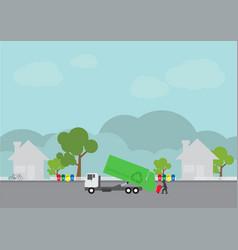 garbage transportation truck delivery vector image
