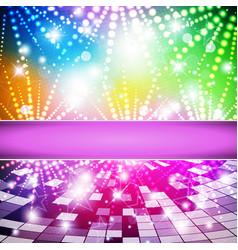 rainbow-disco vector image vector image