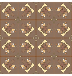 seamless pattern with tomahawks and spears vector image vector image