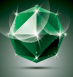stylish shiny emerald effect eps10 Celebr vector image vector image