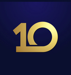 10 simple gold vector image