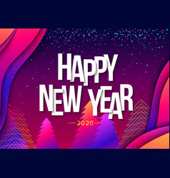 2020 happy new year colorful background vector image