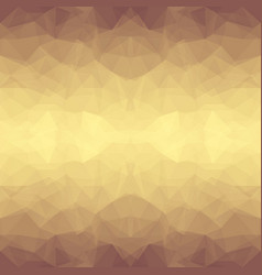 abstract brown polygonal background vector image