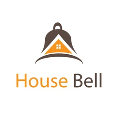 Abstract icon house in bell vector