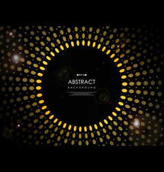 abstract of futuristic geometric yellow sun burst vector image