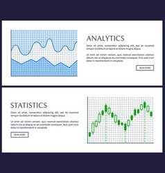 analytics and statistics set vector image