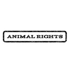 Animal rights watermark stamp vector