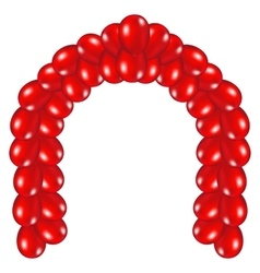 Arch red balloons vector