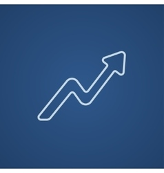 Arrow upward line icon vector image