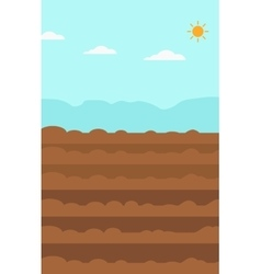 Background of plowed agricultural field vector image