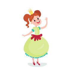 beautiful cartoon princess girl character in a vector image