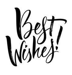 best wishes lettering vector image