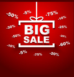 Big Sale special offer discount vector image
