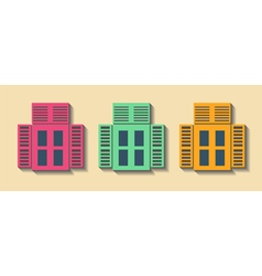 Big set City generator House constructor Windows vector image