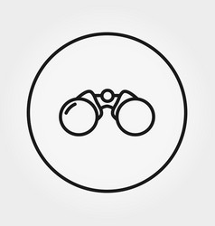 binoculars universal icon editable thin vector image
