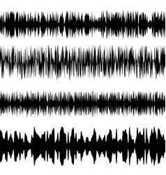 black sound waves set screen equalizer vector image