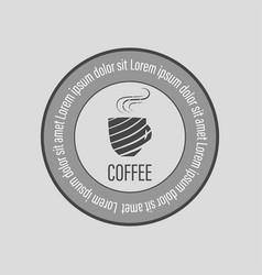 cafe coffee logo vector image