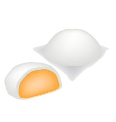 Chinese Steamed Bun and Sweet Creamy Stuff vector