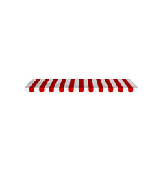 Classic canopy awning red and white striped vector