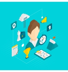 Coaching Business Isometric Icon vector