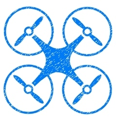 Copter grainy texture icon vector