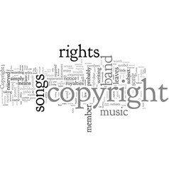 Copyright and music right way to protect your vector