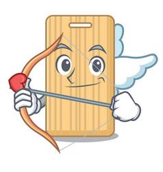 Cupid wooden cutting board character cartoon vector