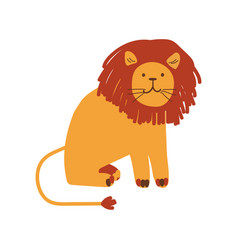 cute friendly lion design element can be used vector image