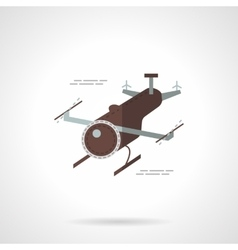 Delivery copter flat icon vector image