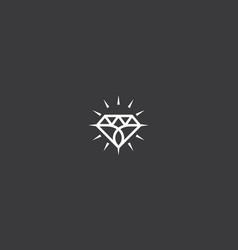 diamond line art logo icon vector image
