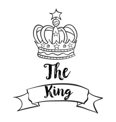 Doodle of king crown collection vector