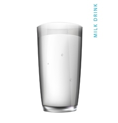 Drink a glass of white milk vector
