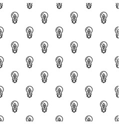 eco leaf bulb pattern seamless vector image