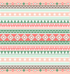 Ethnic striped seamless pattern geometric design vector