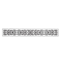 Filigree divider have antique horizontal pattern vector