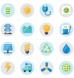 Flat Icons For Environment Icons and Ecology Icons vector