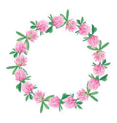 floral wreath isolated on white vector image