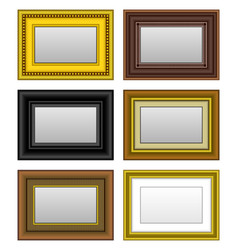frame picture photo mirror a set of picture vector image
