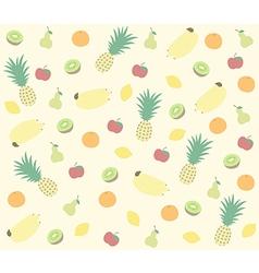 fruit pattern colour vector image