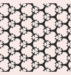 Geometric seamless pattern subtle floral texture vector