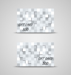 Gift card with abstract squares vector image