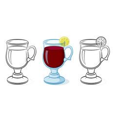 glasses goblets vector image
