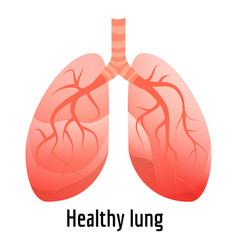 healthy lung icon cartoon style vector image