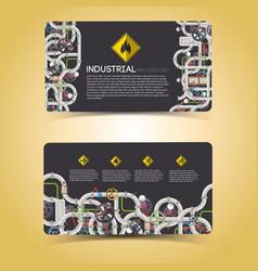 industrial engineering horizontal banners vector image vector image