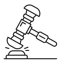 judge gavel icon outline style vector image