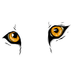 leopard eyes mascot graphic in white background vector image